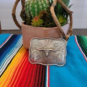 Longhorn Belt Buckle- Nocona Brand
